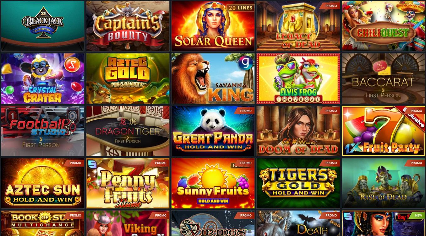 Games in 1xBet Casino.